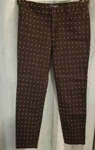 Old Navy black pant with white rhombus print